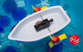 科技小发明制作材料 儿童科学实验玩具小学生新奇创意发明明轮船图片