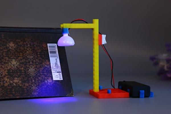 > 益智玩具-科学组装小台灯实验