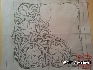 纯草皮制作唐男士雕图纸手工详细染色全过程高铁手包徐州房微利图片