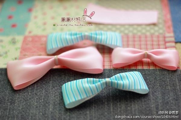 一起用丝带做发夹 - 饰品