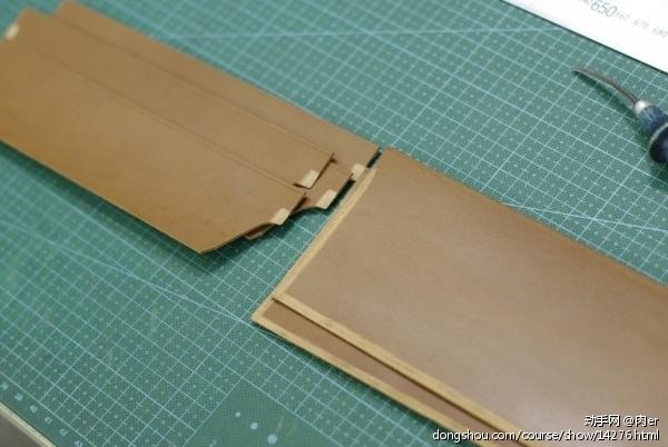 和通常见到的卡位不同,边缘更宽,因为有一部分要重叠,重叠的部分需要削薄。