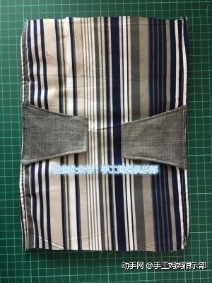 缝到袋身的中间位置