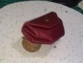 红色蜥蜴皮的零钱包