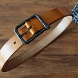 英国J&F J.Baker马缰革腰带 不锈钢锻打皮带扣