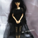 【衣衣做好啦,来显摆下下】全手工迷你黑色V领纱裙,一衣多穿哟!