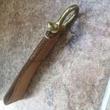植鞣皮原色马蹄钥匙扣