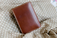 第一次做的自己设计的简单羊皮钱包