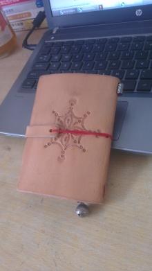 TN风,护照版,皮雕印花钱包