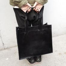 我喜欢暗黑系~  就这样啦! 大号  黑色托特包