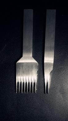 【丹青斩】440C不锈钢手工撇向法斩 欧斩 斜平斩(3.38mm间距)