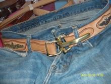 枥木鞍革3.8宽度利特尔顿骑兵皮带