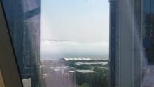 大家往外看,今天厦门云一样的海!!