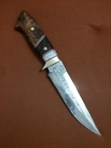 龙泉花纹钢短刀