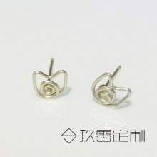 【 925银绕线耳钉】