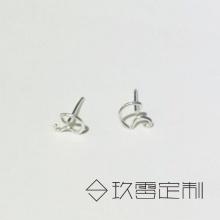 【 925银绕线耳钉】雨伞