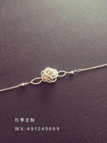 925银绕线首饰 玫瑰