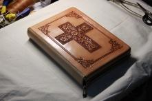 皮雕圣经书皮