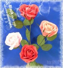 纸艺玫瑰花