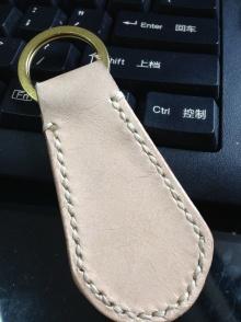 植鞣皮原色钥匙扣