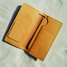 植鞣护照夹