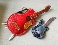 新手入坑  吉他形钥匙包  小挂件