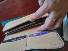皮革工艺七-手缝长夹