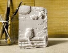 记忆/屋顶立体绘画石膏手工模型白模填色DIY手绘上色创意礼品摆件(手工师傅)