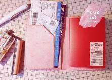 擦蜡粉嫩护照夹