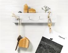 北欧风景钥匙首饰挂钩创意木质墙面展示挂架玄关书桌房间装饰礼物