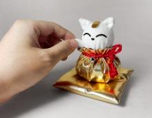 福袋招财猫(手工布艺材料包)