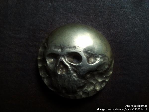 雕刻黄铜扣