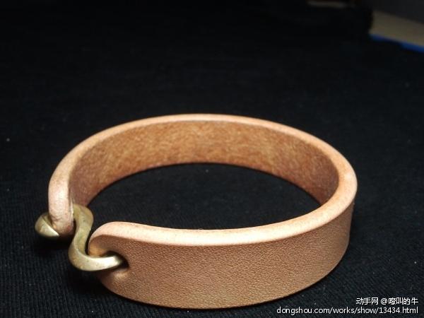 植鞣革手环