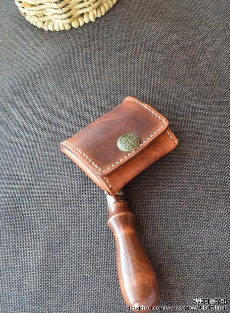 青树手工 植鞣革零钱包