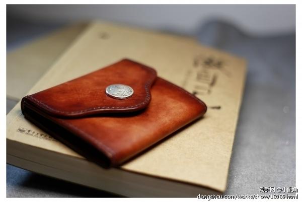 手染零钱包 - 皮艺 - 作品