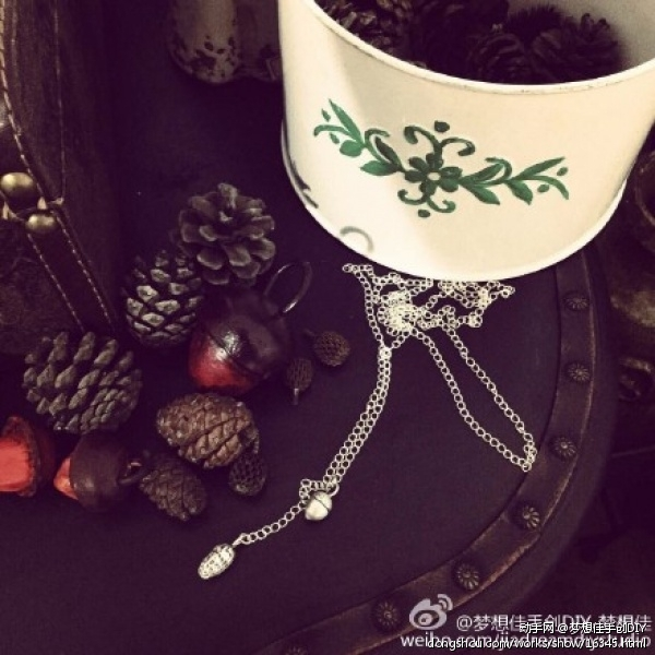纯银DIY(小野果项链)