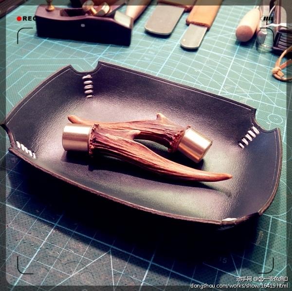 自制麂子角茶针养壶笔一套