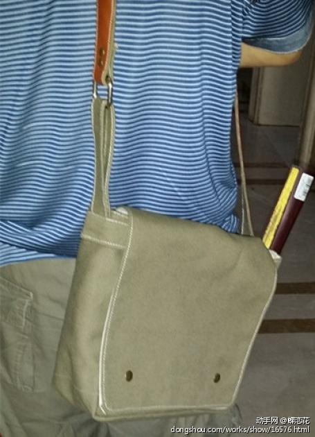 DIY了一个帆布斜挎包