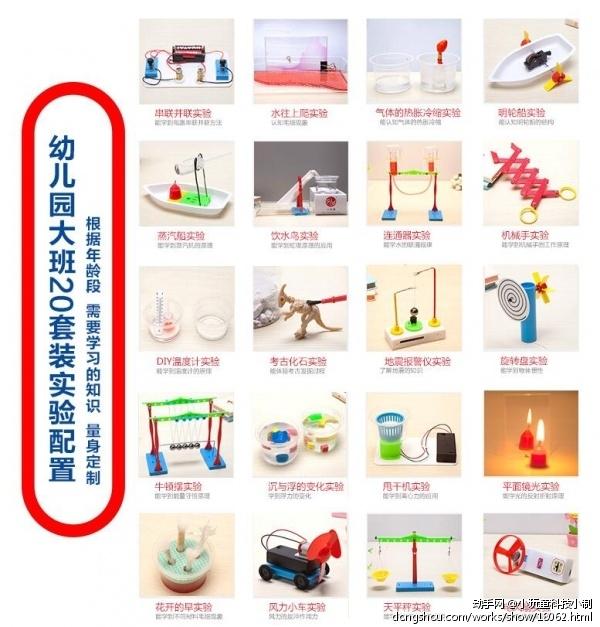 小玩童科技小制作 幼儿园科学实验玩具套装 儿童小发明制作材料器材