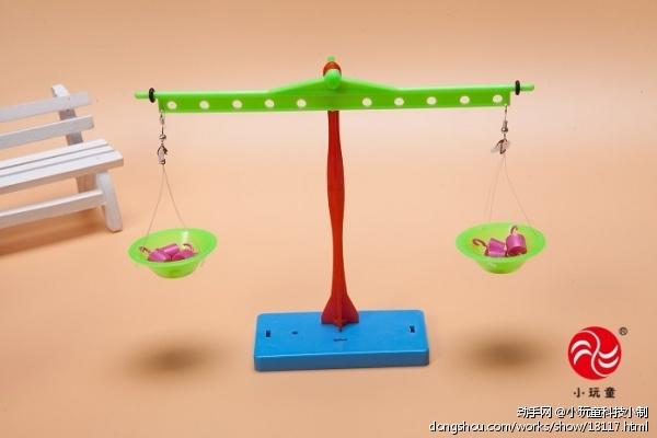 小玩童科技小制作 自制杠杆天平实验材料