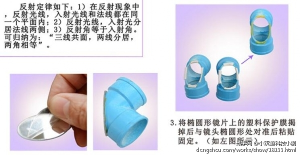 小玩童科技小制作 儿童科学实验玩具 手工diy自制潜望镜材料
