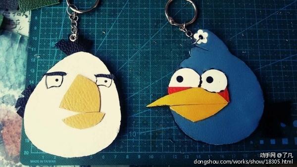 愤怒的小鸟系列钥匙扣