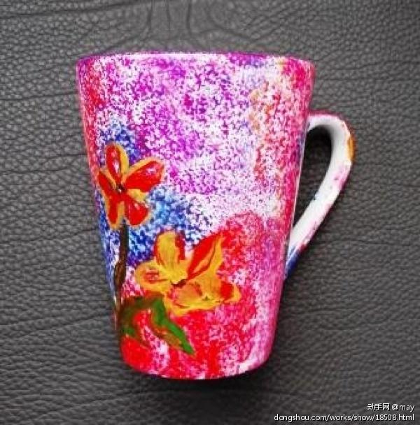 手绘陶瓷杯