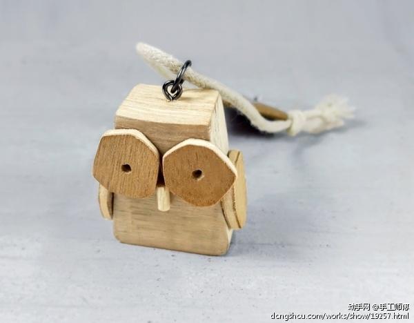 木艺猫头鹰家居装饰艺术摆件吉祥生日节日创意礼物手工原创木模型