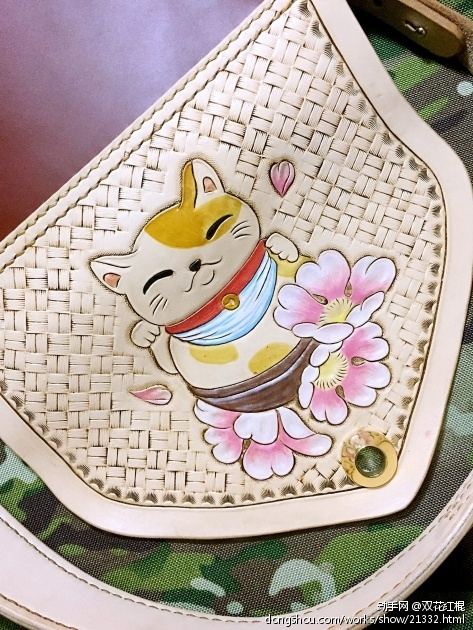 招财猫挎包