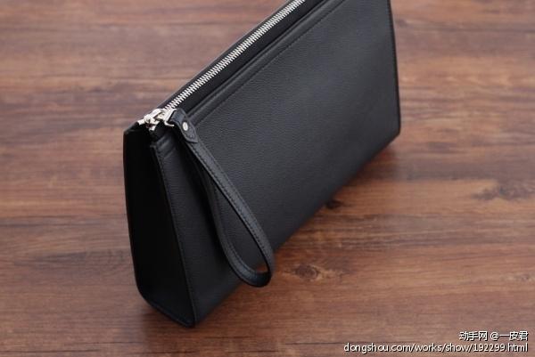 黑色商务款男士手拿包
